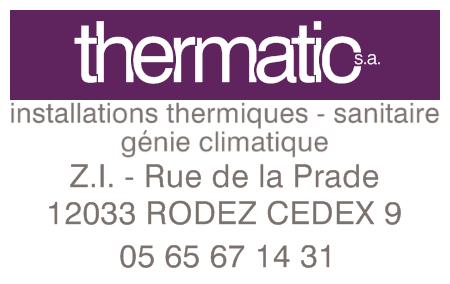 THERMATIC RODEZ Installations thermiques, Sanitaire, G�nie climatique